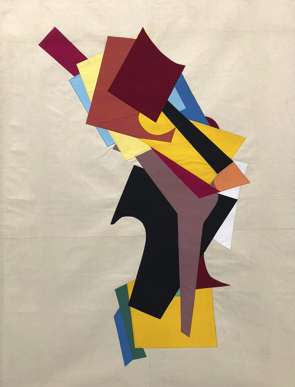 A Demi-God Concentrating (Six Perfections)2011Cloth Banner220 x 150 cm
